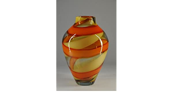 Kunst,Handarbeit,Dekoration Glas Red Sea Vase Design Evolution by Waterford