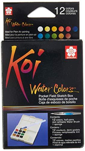 Sakura KOI Aquarelle Field Box Set mit 12 Farben