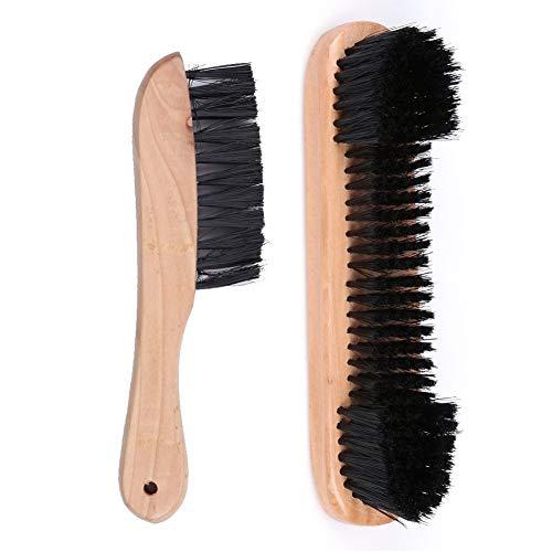 Duzhixi Reinigungsbürste Holzschienenbürste + Filzbürstenreiniger Billard Snooker Billardtisch Werkzeug (1 Paar) für Badezimmer Küche