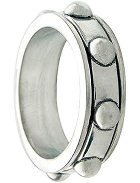 Bico Herren Nugget Spinn Ring (R4) Satiniertes Silber