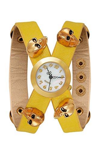 New Trend Unisex Armbanduhr Damen-Uhr Herren-Uhr, Analog Display, Quarzwerk, Totenkopf Skull Sugar Candy Mexico Candyskull Sugarskull Pirat - Sugar Candy Totenkopf Kostüm