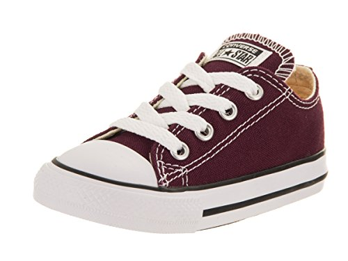 Converse Toddlers Chuck Taylor All Star Ox Burgundy Basketball Shoe 7 Infants US