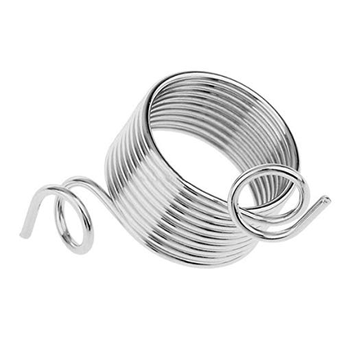 2 Stück Edelstahlwolle Einfädler-Finger-Ring Wolle KnittingTool für Strick Weberei Handwerk Zubehör Nähen Werkzeug