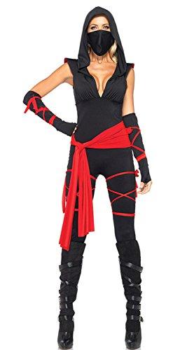 Schwarz mit V-Ausschnitt Sexy Piraten-Kostüme (32-34)