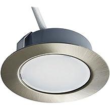 Trango –Foco led empotrable y regulable para sustituir tradicionales G4, conaspecto de acero inoxidable, 12V CA / CC, para muebles de cocina, luces empotradas.