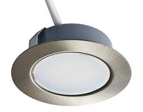 Trango 1set Faretto da incasso a soffitto 12V, AC/DC, da incasso, plafoniera TGG4E-012 Aspetto in acciaio inox per la sostituzione di luci tradizionali per cappa da cucina G4, ecc.
