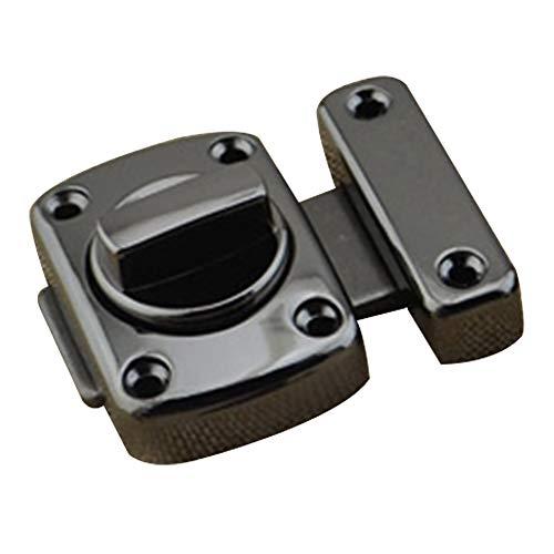 Pestillo de seguridad giratorio con tornillos para puerta de baño, cerradura de puerta de baño, aleación de zinc, puerta mini dispositivo, negro mate