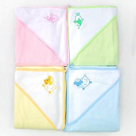 Bebé del Niño con capucha toalla de baño toalla de manopla, verde