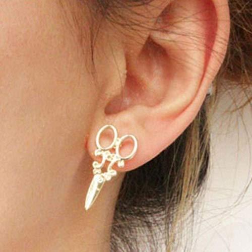 Tingsu 1paio moda unico punk donne ragazze orecchini orecchio gioielli (argento)