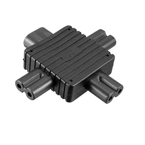 sourcing map AC125V~AC250V 10A IEC320 Stecker C8 zu 3 Buchse C7 Leistung Steckdosen Adapter - 15 Pdu Kabel