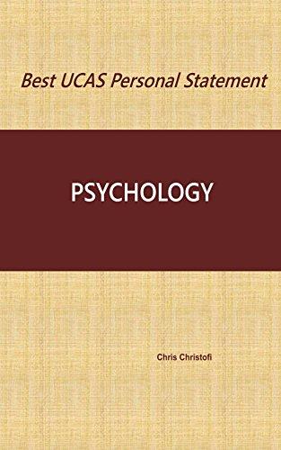 Best UCAS Personal Statement: PSYCHOLOGY