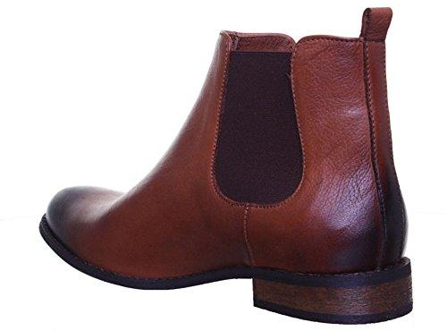Justin Reece Mesdames Chelsea à enfiler Bout bruni style étui en cuir cheville Bottes Taille 345678 Camel T44