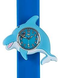 Reloj de los delfines y#x272E;3D de los animales y de#x272E;Multi color y#x272E;Reloj de pared de fácil de leer y#x272E;Relojes de moda y#x272E;Tiempo para la enseñanza y#x272E;Los niños chicos y chicas y#x272E;Resistente a salpicaduras y#x272E;Relojes de pulsera y si la implementación de la fácil y#x272E;Regalos de cumpleaños perfecto de regalo de Navidad