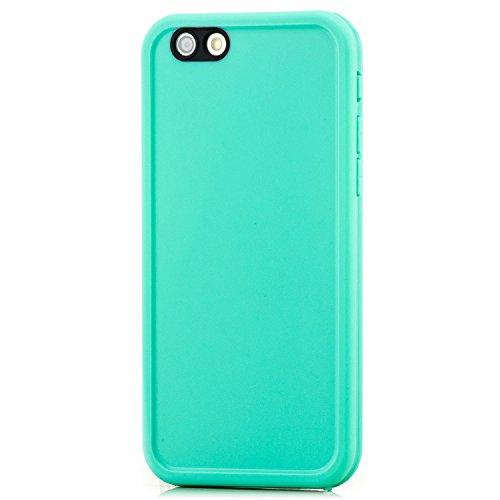 Saxonia Apple iPhone 6 6S Hülle Waterproof Silikon Schutzhülle Slim Case Schwarz/Weiß Grün