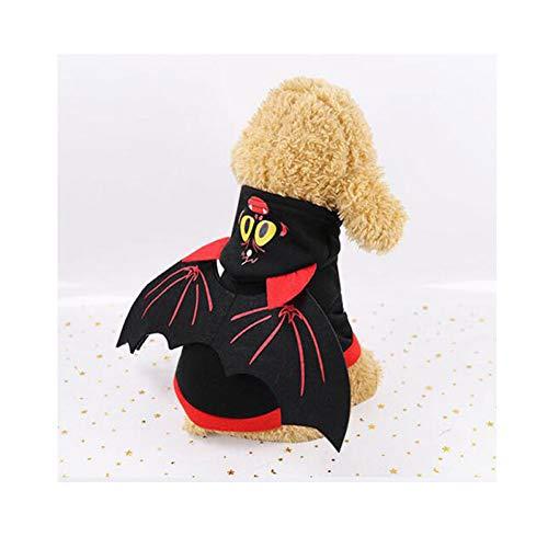 Funny Kostüm Puppy - LCWYP Haustier Halloween Winter Haustier Hund Katzen Hoodies Kleidung Cosplay Fledermausflügel Halloween Kostüme Warm Funny TransformedClothing Puppy