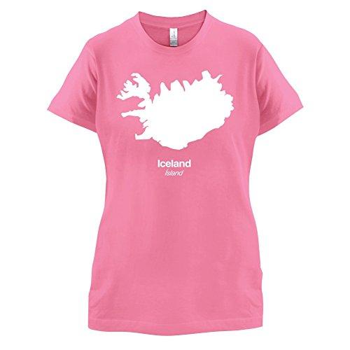 Iceland / Island Silhouette - Damen T-Shirt - 14 Farben Azalee