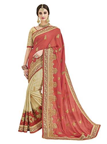 Sareeshop Georgette Saree With Blouse Piece (2504-Sr_Beige_Free Size)