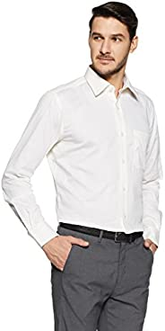 Raymond Men's Solid Regular Fit Cotton Formal S