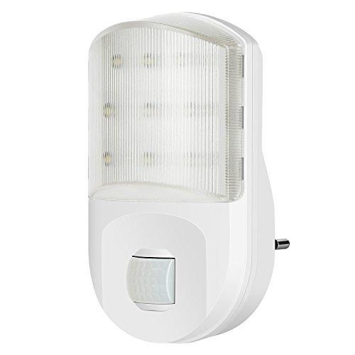 Cinnx 9 LEDs Sensor Nachtlicht weiß, Nachtlichter mit Bewegungssensor und Dämmerungssensor, Wandleuchten Frasted diffusse illumination für Treppenaufgang,Korridor,Einbauschrank oder ein dunkles Zimmer
