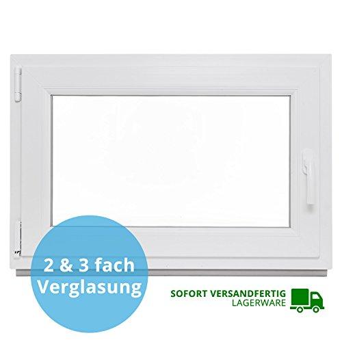 fenster 60x90 Panorama24 Kellerfenster - BxH: 90x50 cm - Kunststoff - Fenster - weiß - 2-fach-Verglasung - DIN rechts - 60mm Profil - LAGERWARE