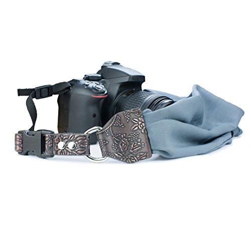 Sugelary Kamera Gurt, Weich Schal Kameragurt Tragegurt Schultergurt für DSLR SLR (Grau)