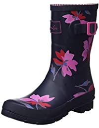 Joules Women's Molly Welly Wellington Boots, Blue (Navy Multi Floral Navmltflr), 6 UK (39 EU)