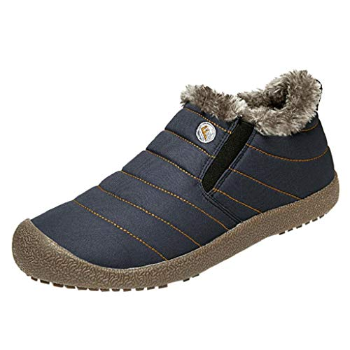 ca54b634 QUICKLYLY Botas para Hombre Calzado De Protección Zapatos Antideslizantes para  De Terciopelo Y Algodón Cálido para