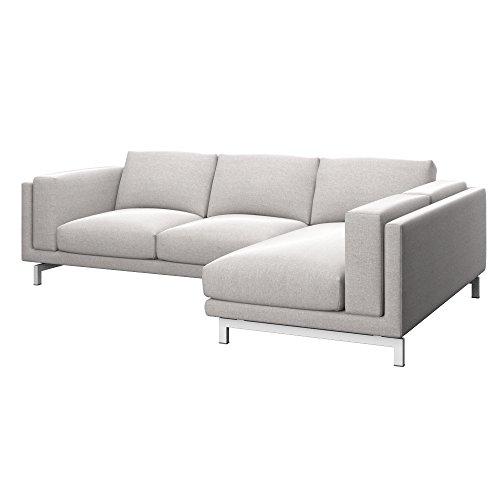 Soferia Ikea Nockeby Fodera Divano 2 Posti Con Chaise Longue