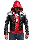 The Dark Knight Batman Arkham Red Hood mit Weste Lederjacke (XS)