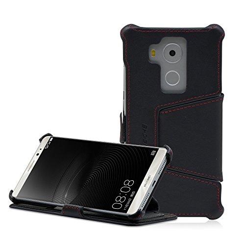 Manna Huawei Mate 8 Hülle Lederhülle Tasche Handyhülle | Nappaleder Leder Case, Cover | Schutzhülle Standfunktion für Mate 8 Case