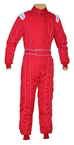 PM Sports New Erwachsene Karting/Race/Rally Einem Stück Anzüge Poly Baumwolle 8Brilliant Farben, rot, XL