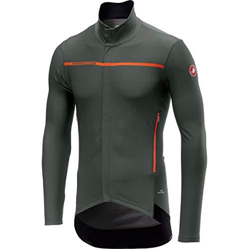 Castelli Radfahren Weste (Castelli Perfetto Long-Sleeve Jersey - Men's Forest Gray, L)