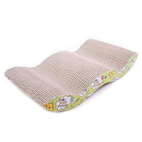 atze-Verkratzen Wellpappe M-Form Scratcher Pole-Bett-Auflage-Matten-Spielzeug ()
