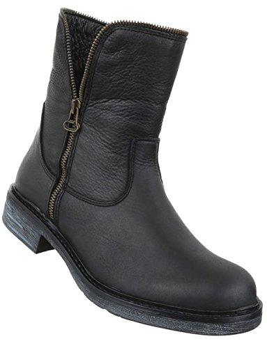 e90dde2f4746 Damen Stiefeletten Schuhe Stiefel Leder Boots Schwarz 36 37 38 39 40 41  Schwarz