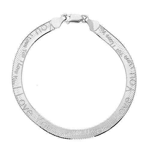 Bijoux pour tous - BRS-K41274 - Pulsera de mujer de plata de...