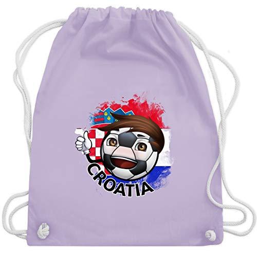 Fußball-Europameisterschaft 2020 - Fußballjunge Kroatien - Unisize - Pastell Lila - WM110 - Turnbeutel & Gym Bag
