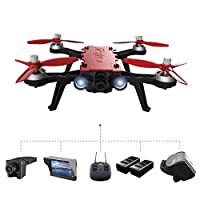 MJX Bugs 8 Pro Qinyin Drone Angle/Acro 3D Flips Racing High Speed Brushless RC Quadcopter With a G3 5.8G FPV Goggles + a C5830 5.8G FPV 720P Camera + a D43 4.3 LCD RX Display + 2 Battery
