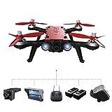 Qinyin MJX Bugs 8 Pro Drone Winkel / Acro 3D Flips Racing High Speed Brushless RC Quadcopter mit einem G3 5.8G FPV Goggles + eine C5830 5.8G FPV 720P Kamera + ein D43 4.3 LCD RX Display + 2 Batterie