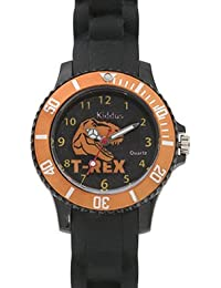 Reloj nino chico infantil Sporty de cuarzo con DINOSAURIO T-REX, correa de silicona, caja de regalo, SUMERGIBLE al agua (5ATM), Mecanismo SEIKO Bateria SONY, Kiddus KI10111