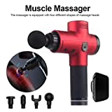Modaka Thérapie électronique Pistolets de massage corporel à 3 rangées Pistolets de massage à DEL sans brosse Muscles du corps pour soulager la douleur (D)