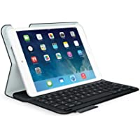 Logitech Ultrathin Keyboard Folio Cover with Integrated Bluetooth Keyboard (Black) for iPad mini, QWERTZ, DE