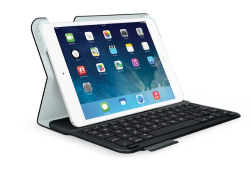 Logitech Ultrathin Keyboard Folio Cover with Integrated Bluetooth Keyboard (Black) for iPad mini, QWERTZ, DE (Cover Ipad Keyboard Ultrathin Für)