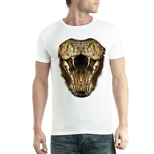 cobra-serpiente-hombre-camiseta-blanco-m