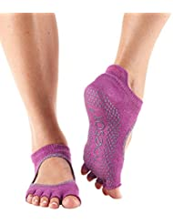 Toesox chaussettes semi-bellerina avec gRIP en coton bio