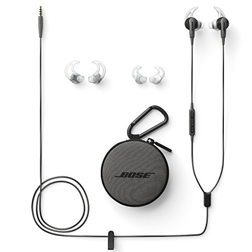 Bose SoundSport In-Ear Headphones with Mic (Charcoal Black) for Samsung and Android Devices