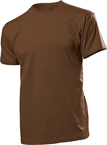 2er Pack original STEDMAN® heavy weight T-Shirts - verschiedene Farben Braun