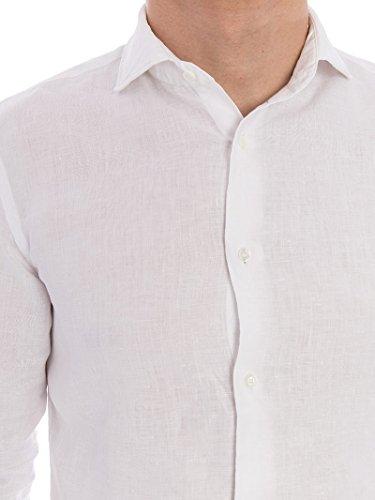 ASPESI Herren Langarmshirt weiß Bianco 46 Bianco