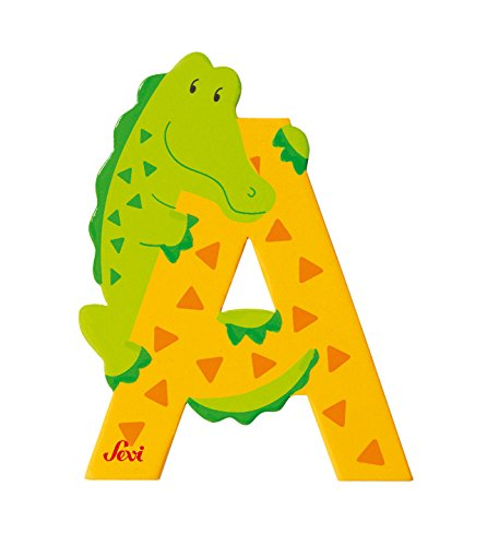Trudi 81601 - Buchstabe Alligator A, 1 Stück, farblich sortiert