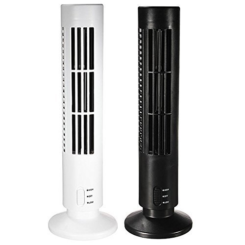 Flipco Mini Desktop USB Tower Fan, Bladeless No Leaf Air Conditioner Cooling Cool Desk Fan, 2-Speed Avalable and Silence