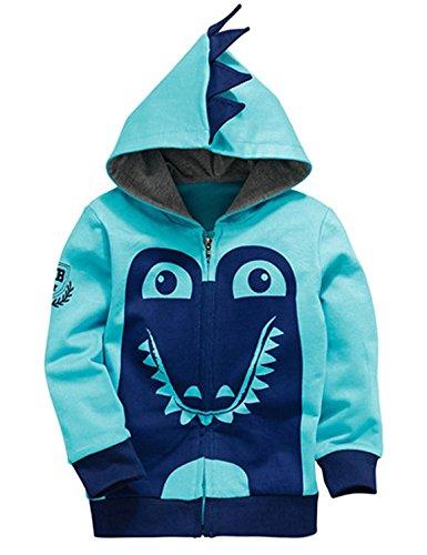 Kinder Sweatshirt Mit Kapuze (Garsumiss Kids Hooded Jungen Pullover Dinosaurier Sweat Shirt Headwear Jacke)